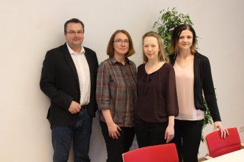 v.l.n.r.: Mag. Gerlinde Strasser, Daniela Breckner, Markus Wimschneider und Daniela Gerner (Foto: Gemeinde)