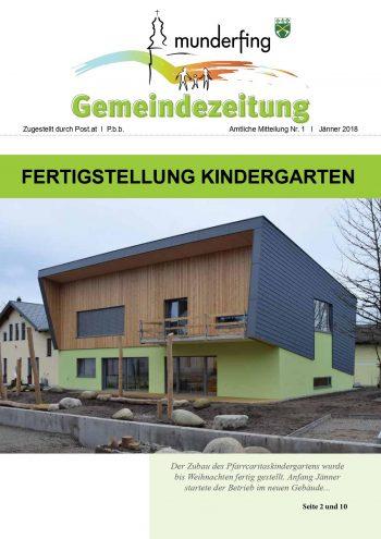 Gemeindezeitung Jänner 2018