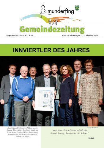 Gemeindezeitung Feber 2018