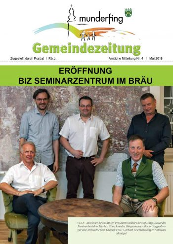 Gemeindezeitung Mai 2018