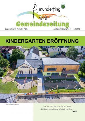 Gemeindezeitung Juli 2018