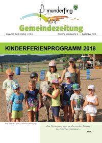 Gemeindezeitung September 2018