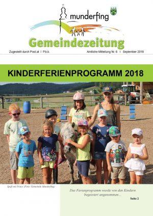 Gemeindezeitung August 2018