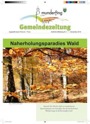 Gemeindezeutung November 2018