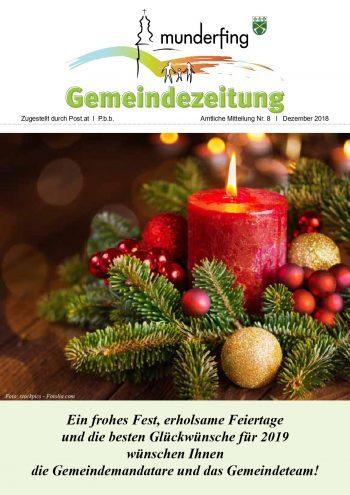 Gemeindezeitung Dezember 2018