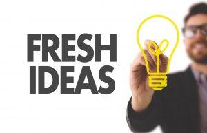 """Dieses Bild zeigt den Schriftzug """"Fresh Ideas"""""""