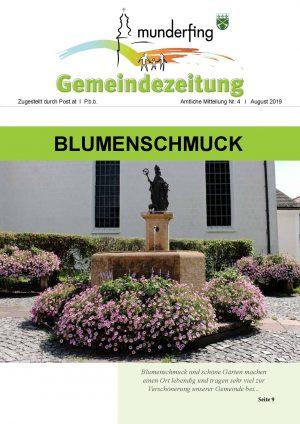 Gemeindezeitung August 2019