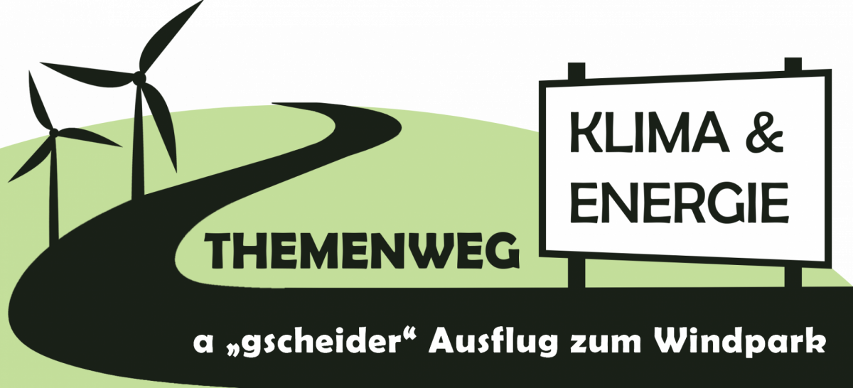 Das Bild zeigt das Logo vom Themenweg Klima und Energie