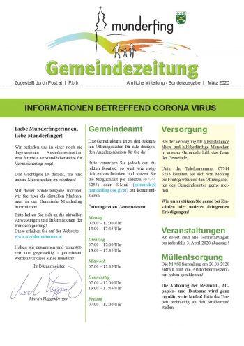 Gemeindezeitung Sonderausgabe