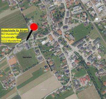 Dieses Bild zeigt auf einer Karte die Anlaufstelle für Bürger im Blackout-Fall.